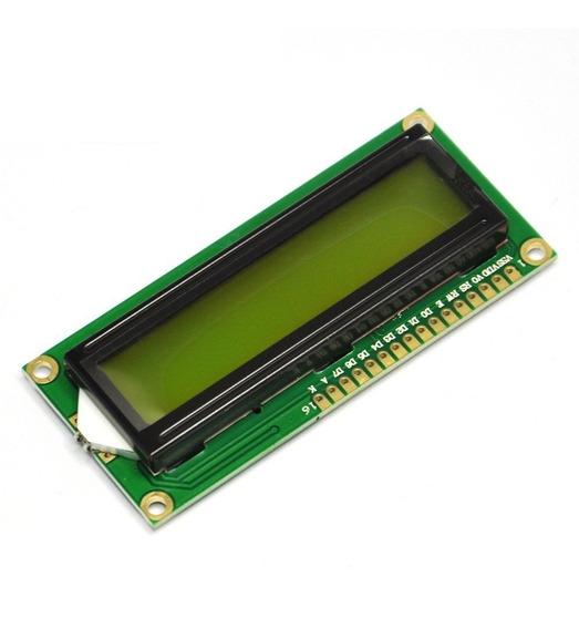 Display Lcd 16x2 Backlight Verde Escrita Preta 1602 Arduino