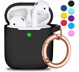 R-fun AirPods Case Cover With Circle Keychain,