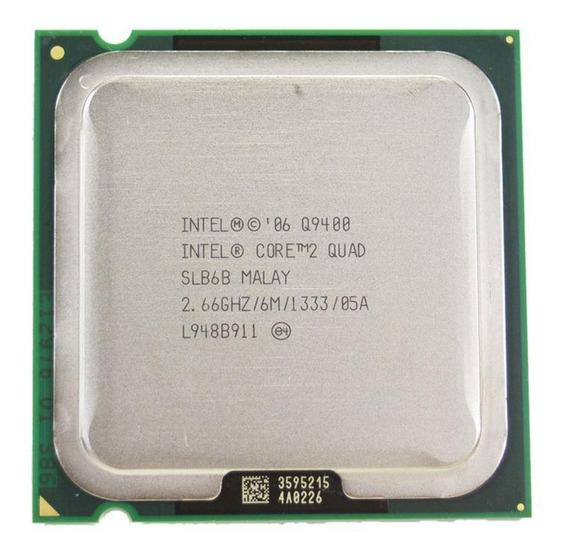 Processador Intel Core 2 Quad Q9400 BX80580Q9400 de 4 núcleos e 2.6GHz de frequência