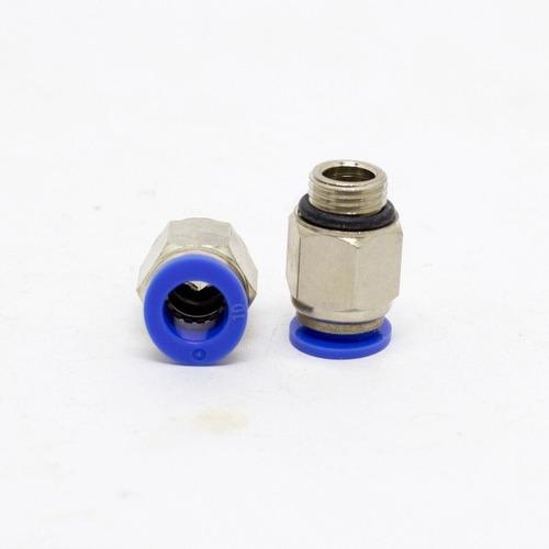 Imagem 1 de 3 de Conexão Instantânea Reta Macho 1/4 X 08mm Bsp - Kit 10 Pçs