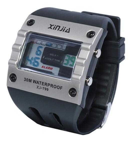 Relógio Digital A Prova Dágua Acompanha Caixa Acrílica