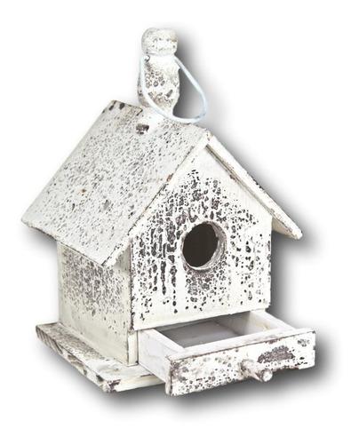 Casa Decoração Pássaros Madeira Rústica Vintage 25x17x17cm