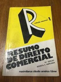 Livro Resumo De Direito Comercial - Frete R$ 13,00