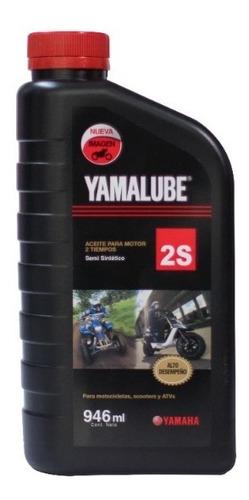 Imagen 1 de 3 de Aceite Yamalube 2t Fc S/sintetico 946ml