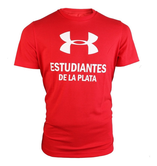 Remera Under Armour Estudiantes De La Plata Big Logo Roja