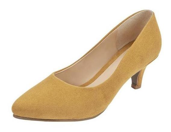 Zapatilla Fiesta Color Amarillo Para Dama Mundo Terra 023221