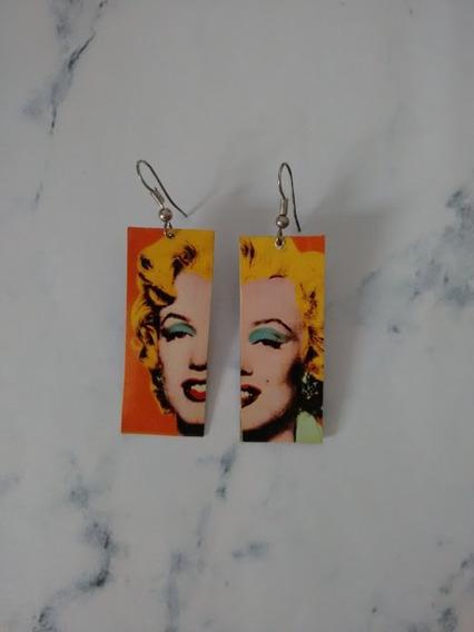 Aros - Par De Aritos Frida Kahlo, Marilyn Monroe, Arte, Cine