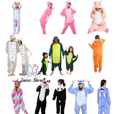 Imagen 1 de 4 de Pijama Y Disfraz Niño Y Adulto Animales Kigurumi