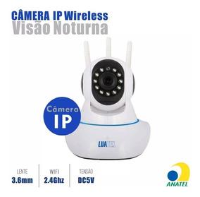 Kit 2 Câmeras Ip Noturna Hd Wifi 3 Antenas Anatel Luatek