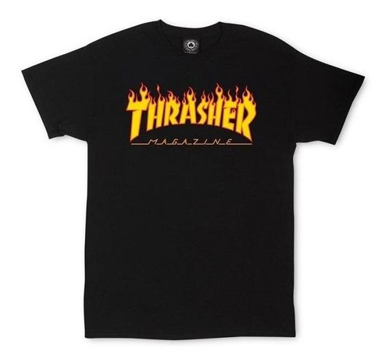 Remera Thrasher 100% Original Flame Logo Envio Gratis