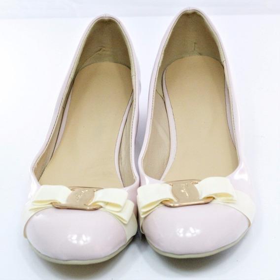 Ferragamo Zapato Bajo Rosa 25.5 Msrp $11,500