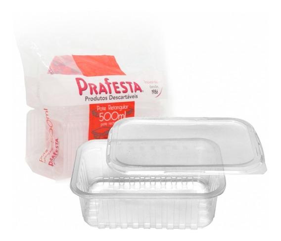 24un Pote Descartável 500ml Freezer Microondas Marmita