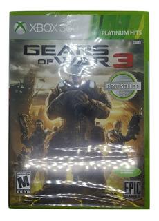 Gears Of War 3 Completamente En Español Xbox 360 / One Sellado Videojuegos Rock