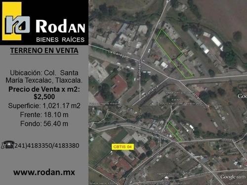 Terreno En Venta Santa Maria Texcalac
