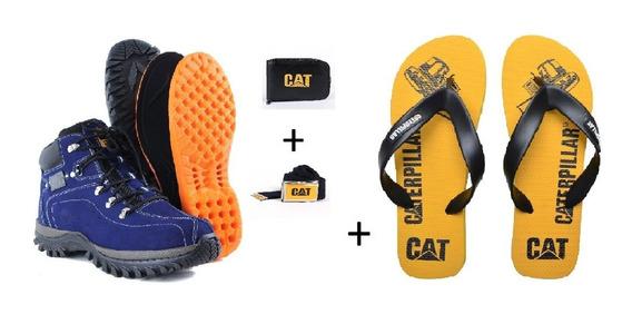 Kit Bota Caterpillar + Chinelo Caterpillar + Cinto/carteira