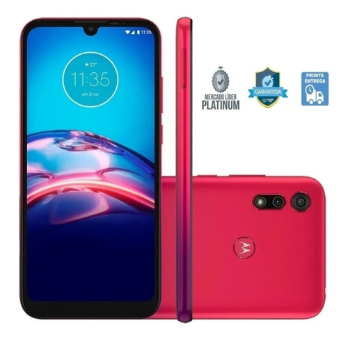 Smartphone Motorola Moto E6s 32gb Tela 6.1'' Vermelho Xt2053