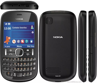 Nokia Asha 201 Qwerty Mp3 Radio Fm Preto