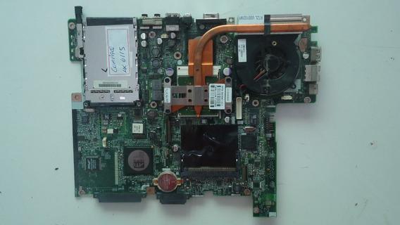 Placa Mãe C/ Cooler E Processador Notebook Hp Compaq Nx6115