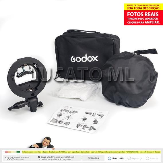 Kit Suporte Godox P/ Flash + Softbox 60x60 + Frete Grátis