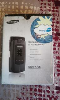 Caja + Manual + Accesorios Samsung Sgh-a706 Originales