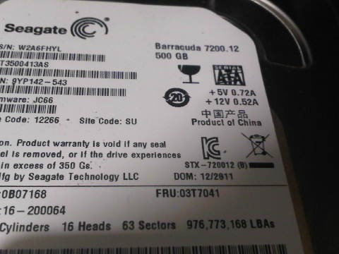 Disco Duro Seagate Barracuda 500gb
