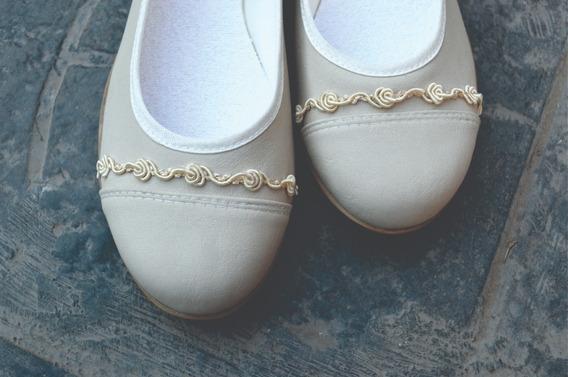 Zapatos Blanco Novia Chatitas Casamiento Fiesta Comunión