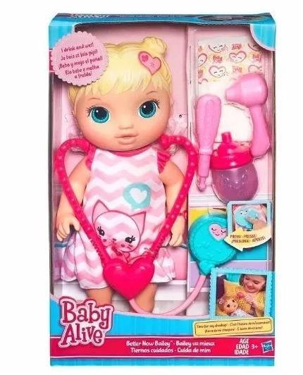 Boneca Baby Alive Cuida De Mim - Loira