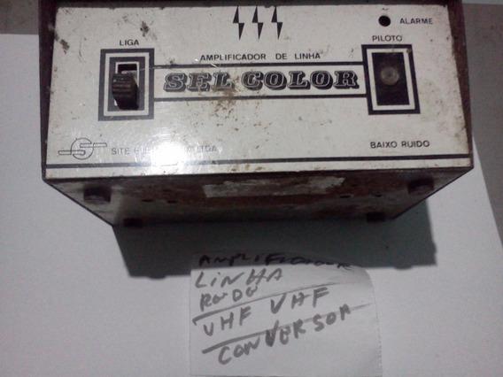 Amplificador De Linha -conversor Tv- Vhf/uhf-fm-