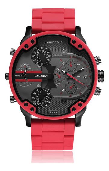 Reloj Cagarny 6830 Cuarzo De Moda Deportivo Casual P/hombre