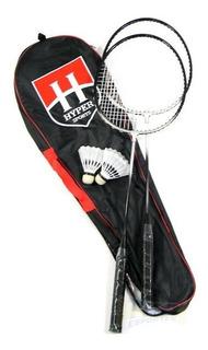 Kit Badminton Hyper Sports 2 Raquetes 2 Petecas - Jogos