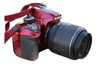 Cámara Profesional Nikon D3200 Roja