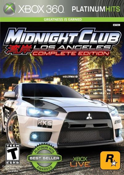Midnight Club La Xbox 360 Midia Digital Envio Imediato 2019