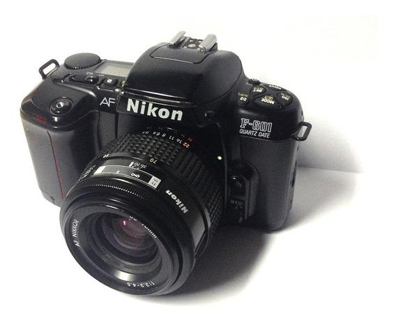 Câmera Anlg. Nikon F601 Qd + Lente Af Nikkor 35-70 F/3.3-4.5
