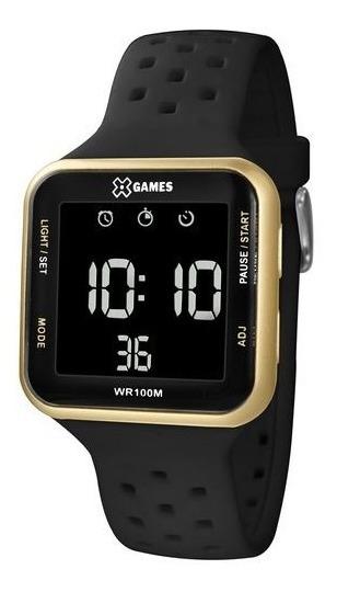 Relógio X-games Unissex Digital Xgppd093 Preto E Dourado