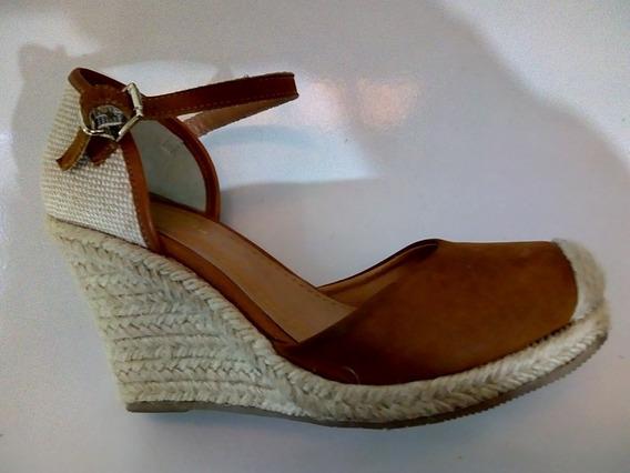 Sapato De Salto Meia Pata Rustico