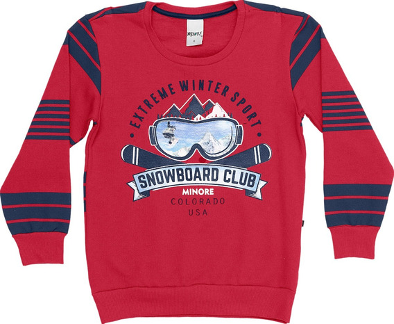 Blusão De Moletom Infantil Menino Minore Snowboard