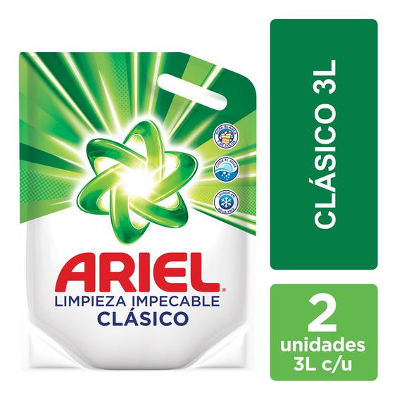 Jabón Líquido Para Ropa Ariel 3 L Pouch - Pack X2