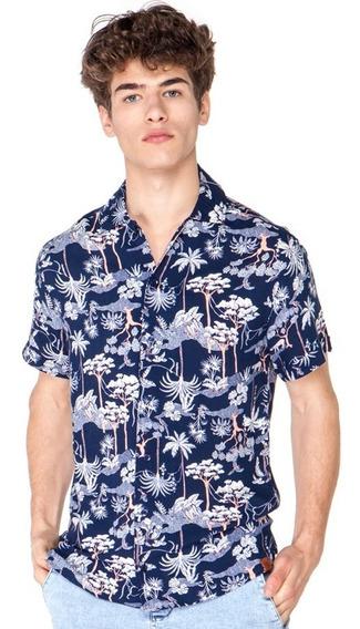 Camisa Vicus Tropic Azul