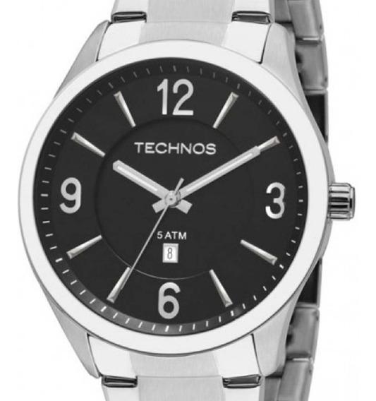 Relógio Technos Masculino Classic 2015bzb/1p Prateado + Nf-e