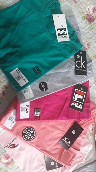 Kit 3 Camisetas De Marcas Variadas!