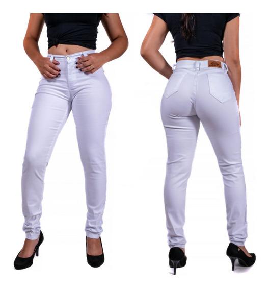 Calça Jeans Feminina Cós Alto Levanta Bumbum Vários Modelos
