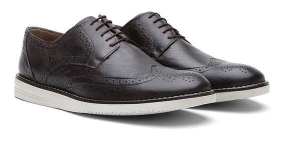 Sapato Casual Oxford Couro Fóssil 206 - Frete Grátis