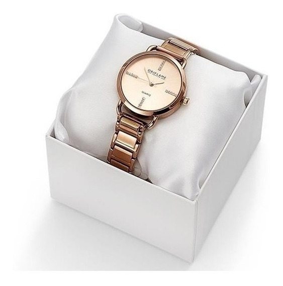 Reloj Rose Gold Con Cristales De Swarovski Envío Gratis