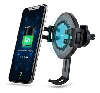 Wireless Car Charger Mount Holder Elastic Clamping Air Vent
