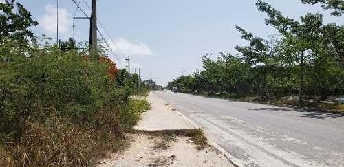 Oportunidad Lote Comercial En Playa Del Carmen Con Frente De Carretera P2881