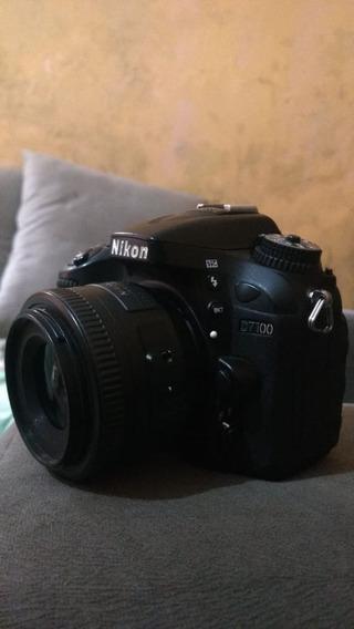 Nikon D7100 Com Lente 35mm 1.8 Nikkor Mais Carregador