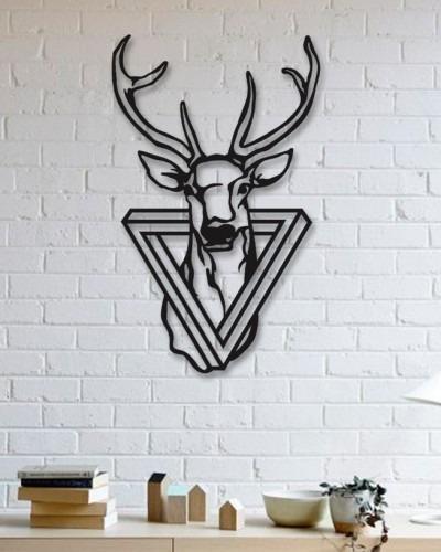 Imagem 1 de 2 de Quadro Decorativo Parede Animal Alce 02 90cm