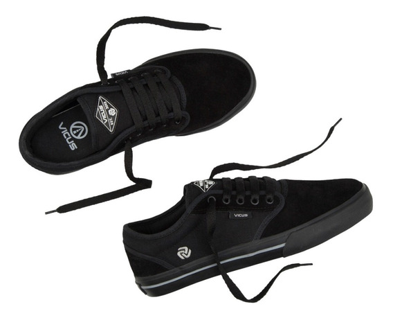 Zapatillas Vicus 100% Original Mod Folk Negro Blanco
