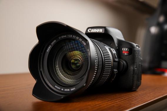 Kit Câmera Canon T6i + Lente Sigma 17-50mm 2.8 + 2 Baterias