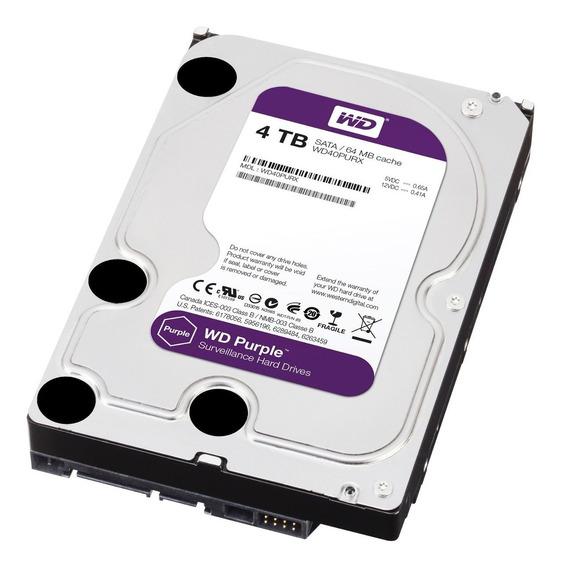 Hd 4 Tb Wd Purple Próprio Para Dvr Intelbras Luxvision Etc
